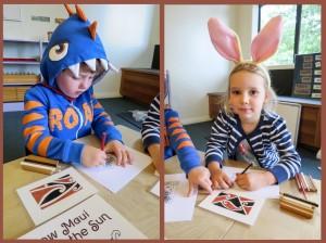 roar & bunny-ears